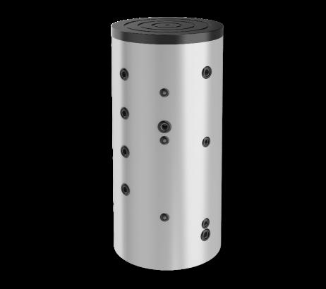 Буферен съд 1000 л., една серпентина, неемайлиран