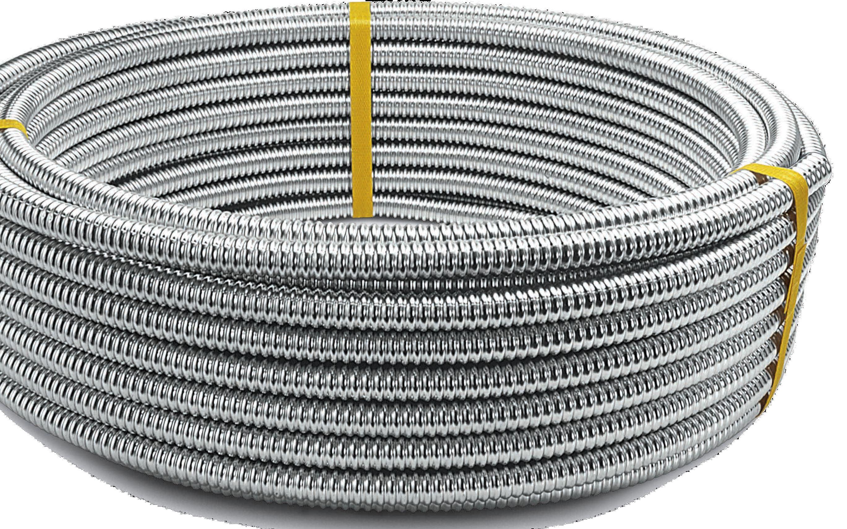 Гъвкави гофрирани тръби CSST от неръждаема стомана AISI 316 или 304